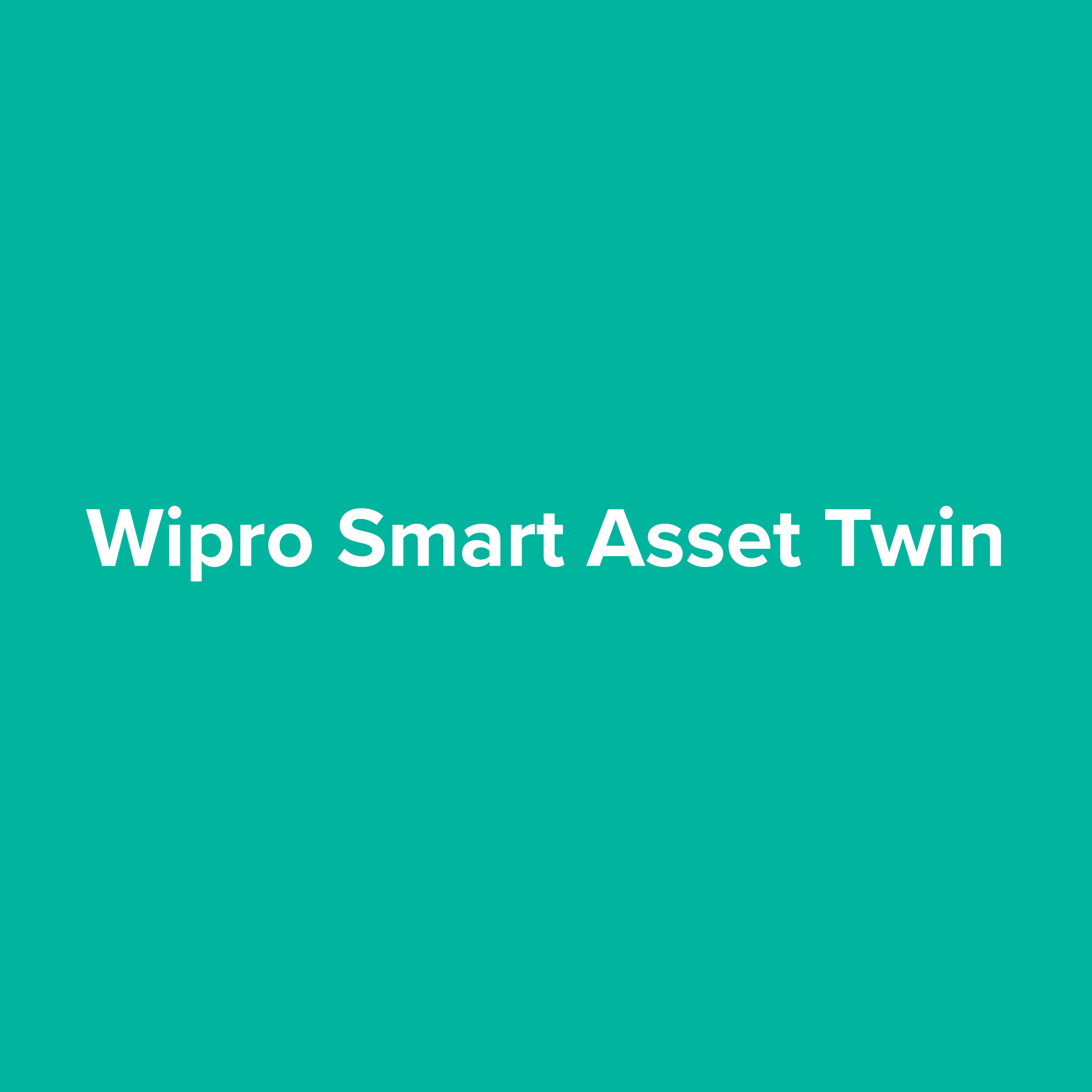 Wipro Smart Asset Twin