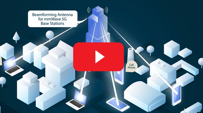AoD Transparent Antenna for mmWave 5G