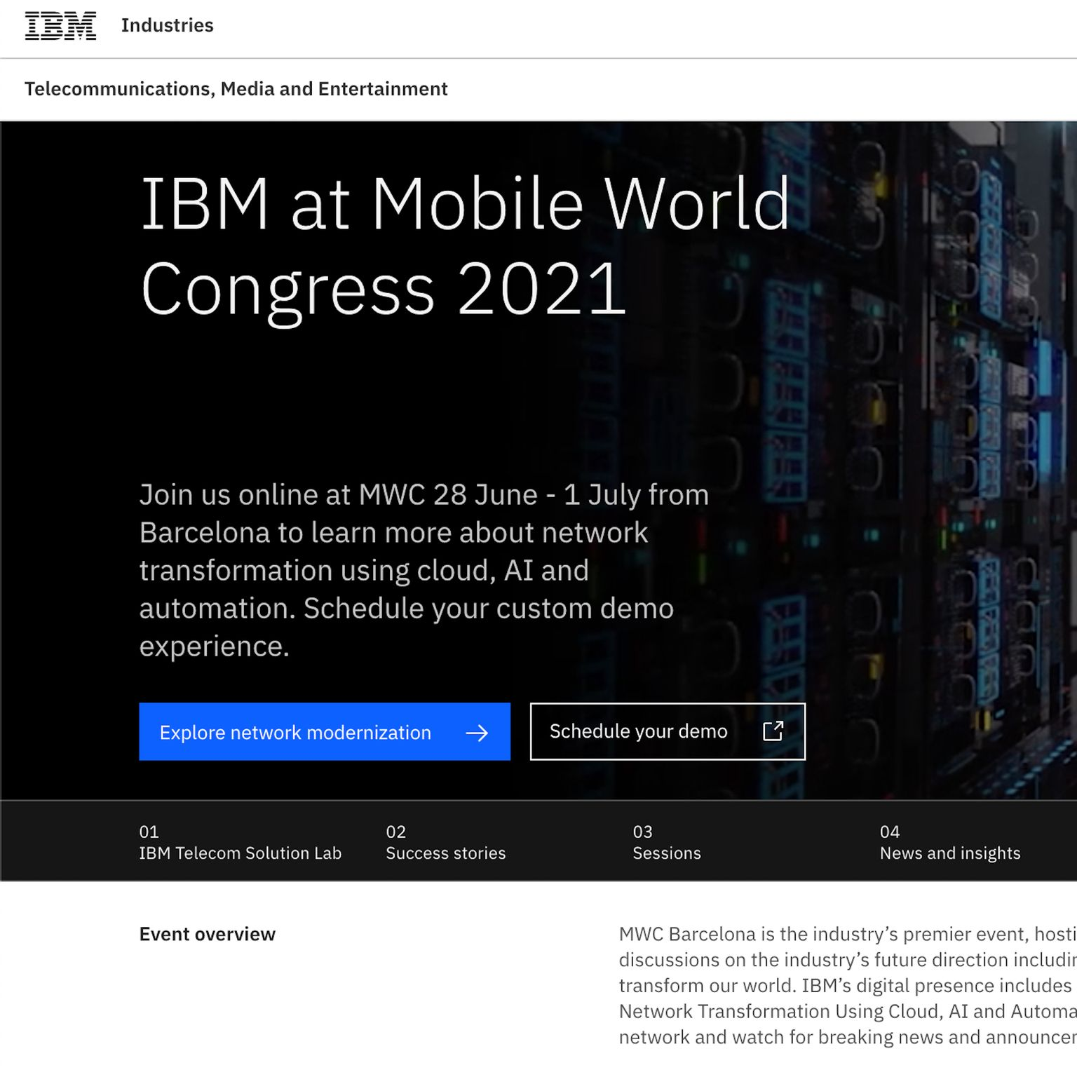 Explore more about IBM at MWC